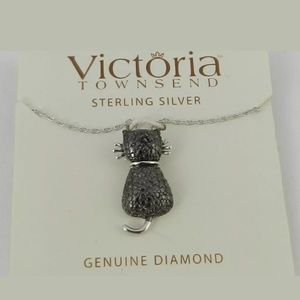 Black Diamond Sterling Pendant by Vic Townsend EUC